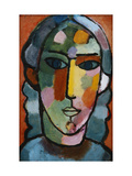 Head of a Girl Prints by Alexej Von Jawlensky