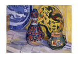 Still Life with Oriental Figures Premium Giclee Print by Spencer Frederick Gore