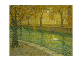 Le Canal, Annecy Poster by Henri		 Le Sidaner
