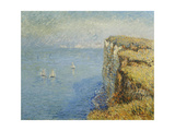 Cliffs in Normandy Giclee Print by Gustave		 Loiseau