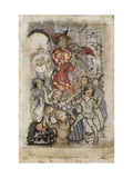 The Pied Piper and the Children Lámina giclée por Arthur		 Rackham