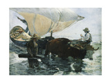 The Return from Fishing Lámina giclée por Joaquín Sorolla y Bastida
