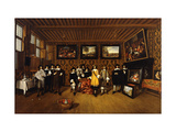 A Group Portrait of Twelve Gentlemen in an Interior Giclee Print by Gillis Tilborch