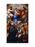 The Coronation of the Virgin with Saints Peter, Paul, Ambrose and Charles Borromeo Giclee Print by Carlo Francesco		 Nuvolone