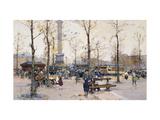 Place de la Bastille, Paris Giclee Print by Galien-Laloue Eugene