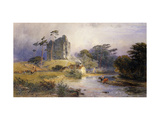 Thirlwall Castle, Northumberland Posters par Henry George Hine