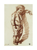 A Little Boy Standing Prints by Jean-Baptiste Greuze