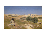 Jerusalem from the South East Giclee Print by Hans Andersen Brendekilde