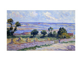 Haystacks by the Sea Print by Maximilien		 Luce
