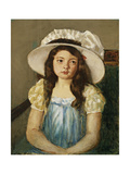 Francoise Wearing a Big White Hat Poster by Mary Cassatt