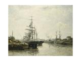 Le Bassin de Caen Giclee Print by Stanislas Lepine