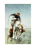 Bronco Rider Giclee Print by William Herbert 'Buck' Dunton