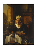 The Lace Maker Print by Josephus Laurentius		 Dyckmans