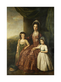 A Group Portrait of Mary, Countess of Darnley and her Children, Lord Clifton and Lady Mary Bligh Giclee Print by Nathaniel		 Dance-Holland