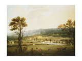 An Extensive View of Chatsworth, Derbyshire from the South-West Giclee Print by Smith of Derby Thomas