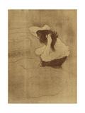 Femme Qui Se Peigne - La Coiffure, Plate VII from Elles Prints by Henri Toulouse-Lautrec