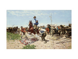 Cossacks at Play Giclee Print by Jozef		 Brandt