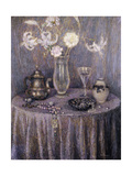 The Table, Gray Harmony Giclee Print by Henri		 Le Sidaner
