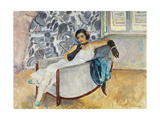 Woman with Black Gloves Giclee Print by Henri		 Lebasque