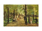 Walkers in the Tiergarten Giclee Print by Max		 Liebermann