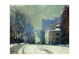 Beacon Street in Winter Giclee Print by Arthur Clifton		 Goodwin