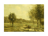 Coubron-Route Montante Poster by Jean-Baptiste-Camille Corot