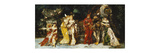 Characters on a Deck with Faust and Mephisto Premium Giclee Print by Adolphe		 Monticelli