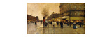 A Parisian Street Scene Premium Giclee Print by Eugene		 Galien-Laloue