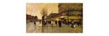 A Parisian Street Scene Premium Giclee Print by Eugene Galien-Laloue