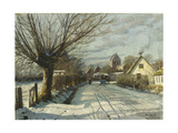 Hoje Taastrup Church, Outside Copenhagen Giclee Print by Peder Mork Monsted