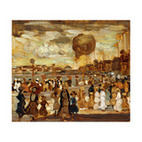 The Balloon Giclee Print by Maurice Brazil Prendergast