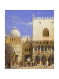 The Doge's Palace with Porta della Carta and the Marcus Basilica Prints by Carl Friedrich Heinrich Werner