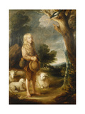 A Wooded Landscape with a Shepherd Boy Listening to a Magpie, and Three Sheep Giclee Print by Dupont Gainsborough