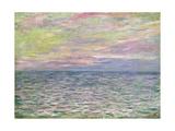 On the High Seas, Sunset at Pourville Giclée-Druck von Claude Monet