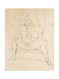 The Sitting Clown Prints by Henri Toulouse-Lautrec