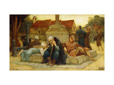 The Curfew Tolls The Knell of the Parting Day Giclee Print by Frederick William		 Davis