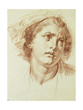 The Head of a Woman looking up to the right Prints by Jean-Baptiste Greuze