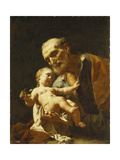 Saint Joseph and the Infant Christ Posters by Francesco		 Capella