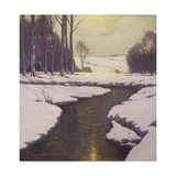 Melting Snow Prints by Charles Warren		 Eaton