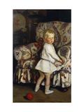 Young Boy in an Interior Lámina giclée por Mann Harrington