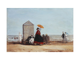 On the Beach at Trouville Posters by Eugène Boudin
