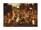 The Feast of St. Martin Giclee Print by After Marten Cleve