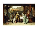 Toasting the Winner Giclee Print by Auguste		 Serrure