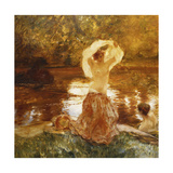The Bath Giclee Print by Gaston Latouche