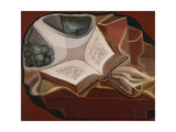 Book and Fruit Bowl Poster by Juan Gris