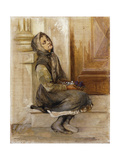 The Flower Seller Giclee Print by Georges Jacobides