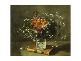 A Floral Still Life Giclee Print by Emile Gustave		 Couder