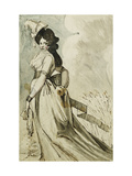 A Lady Walking Print by Henry Fuseli