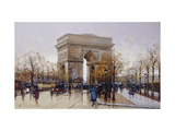 L'Arc de Triomphe, Paris Art by Eugene		 Galien-Laloue
