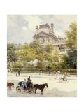 La Place du Louvre Print by Louis Beraud